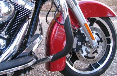 ProGuards on a Harley-Davidson Road King
